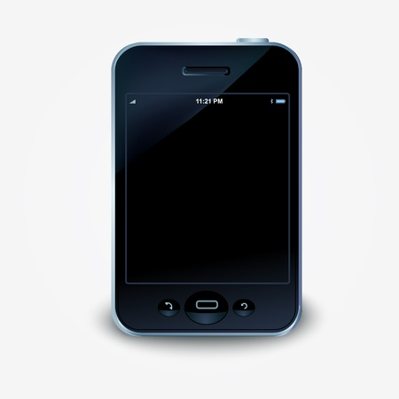 illustration of a touch screen smartphone. Vector