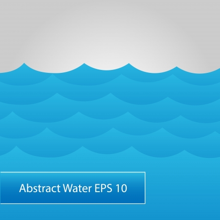Abstract water background. Vector