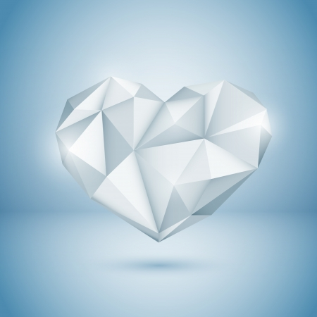 Diamond Heart. illustration Stock Vector - 18770304