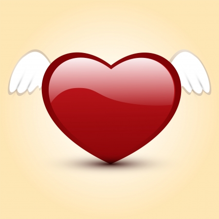 illustration of heart with wings Stock Vector - 18769751