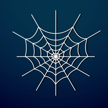 spider web on dark background Stock Vector - 18769723