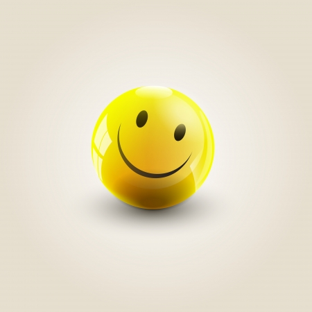 illustration of a yellow smile Vector