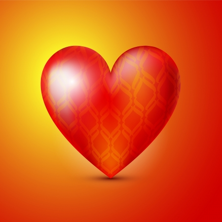 background with red heart. Vector