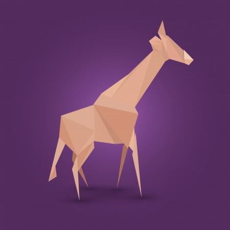 illustration of origami giraffe