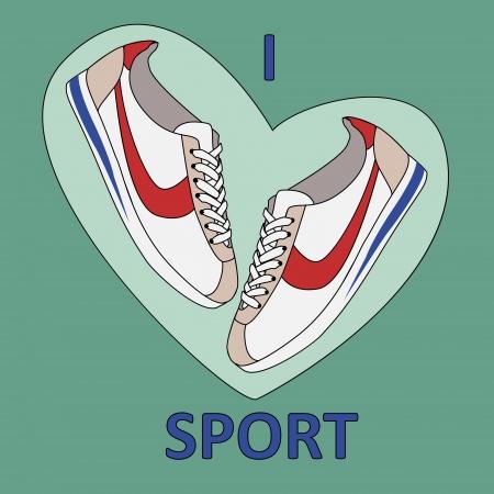 Veñtor background. I love sport. Vector