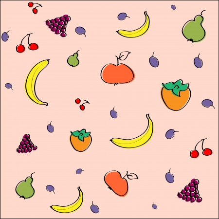 Vector background with fruit. Vector