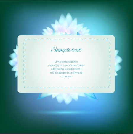 Invitation card on green background with colorful flowers Vector