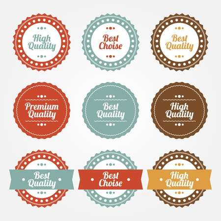 Collection of Premium and High Quality labels Vector