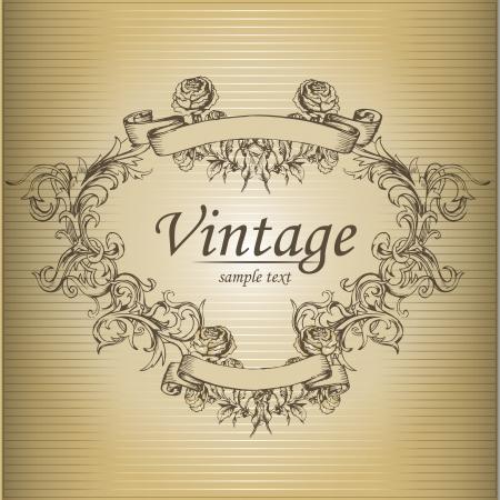 Vector vintage background Stock Vector - 19034085