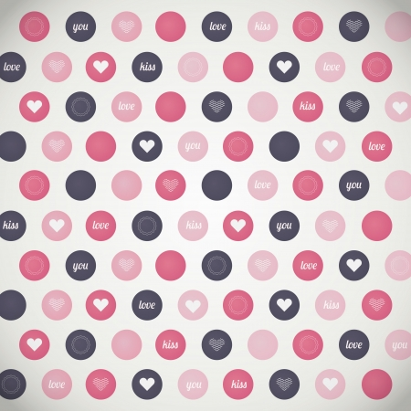 Vector background with hearts Stock Vector - 19034045