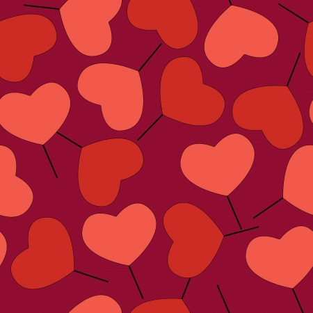 Valentine's day background with hearts. Stock Vector - 19033915