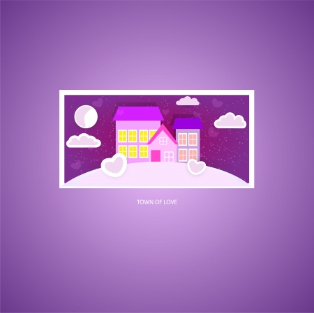 Town of love. Vector picture. Stock Vector - 19033970