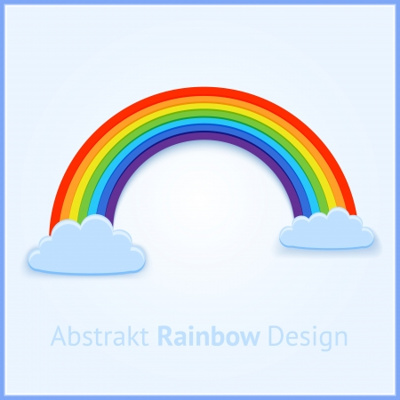 Vector background with rainbow. Vector