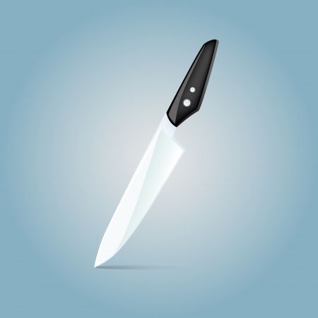 Vector illustration of a knife. Vector