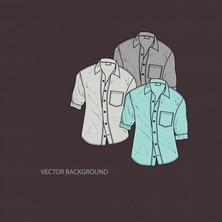 Vector illustration of mens shirts. Vector