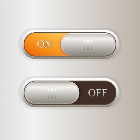 Vector on off buttons. Vector