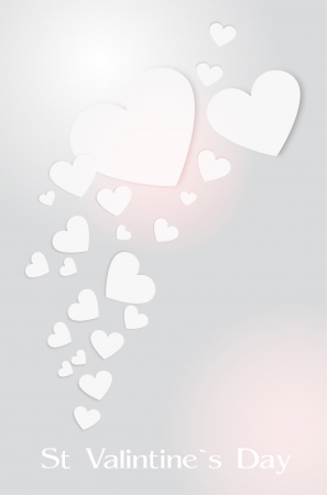 Vector background with hearts for Valentine's day. Stock Vector - 19033926