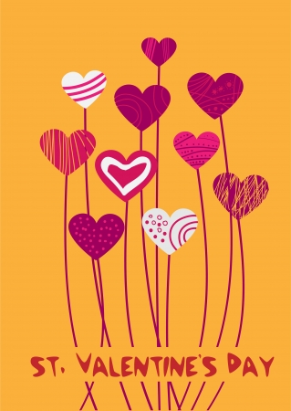 Vector background with hearts for Valentine's day. Stock Vector - 19033966