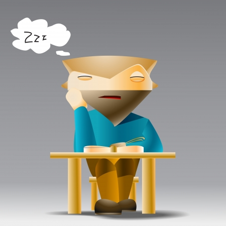 Student sleeping at the desk Vector