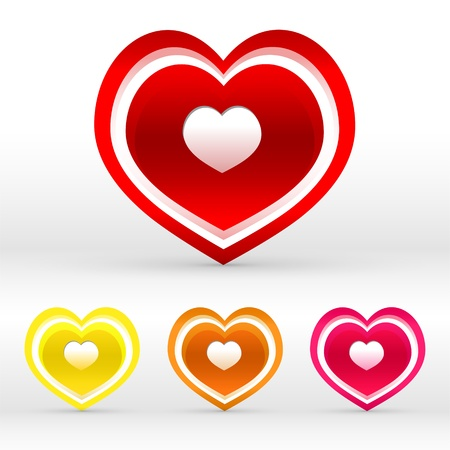 set of colored hearts. Stock Vector - 19138701