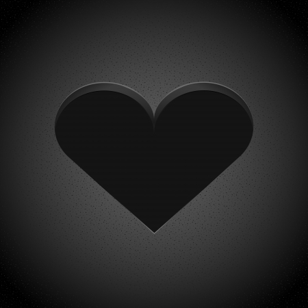 black heart Stock Vector - 19138689