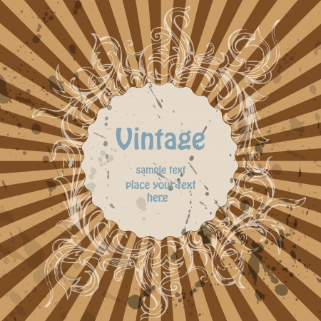 Vector vintage background Vector