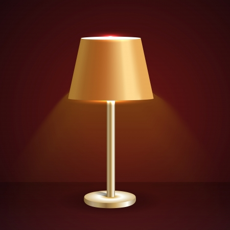Vector table lamp Vector