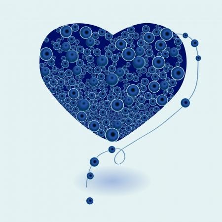 Heart necklace vector Vector