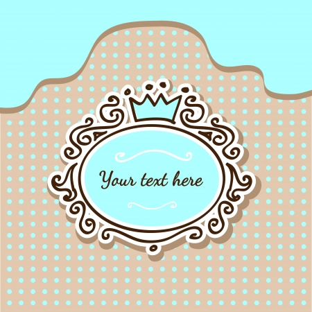 Vector cute background with crown Vector