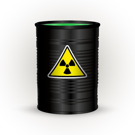 Black metal barrel with nuclear waste Stock Vector - 19154706