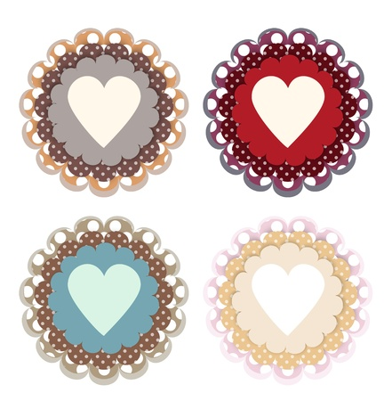 Vector set of colored hearts Stock Vector - 19187968