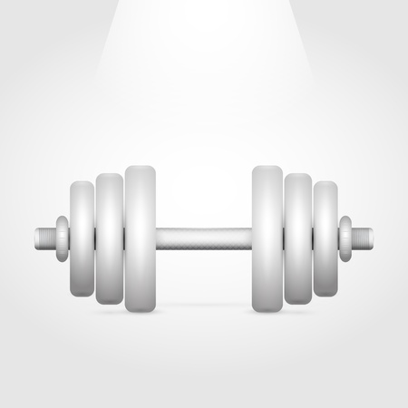 Vector illustration of a dumbbell Stock Vector - 19187999