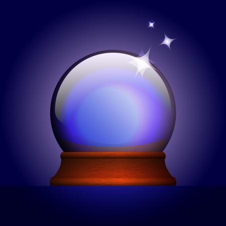Vector illustration of magic ball Vector