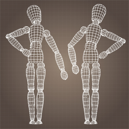 Vector model of body Vector