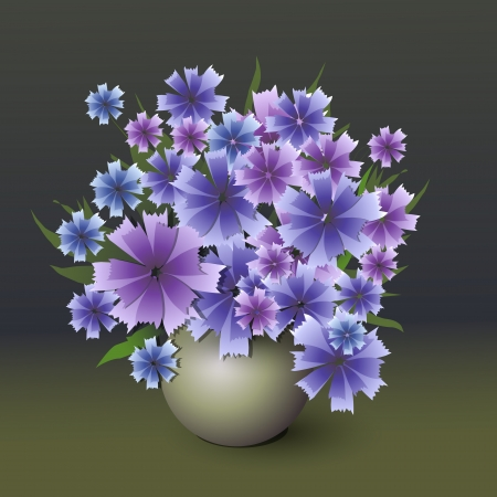 Vector bouquet of cornflower Vector