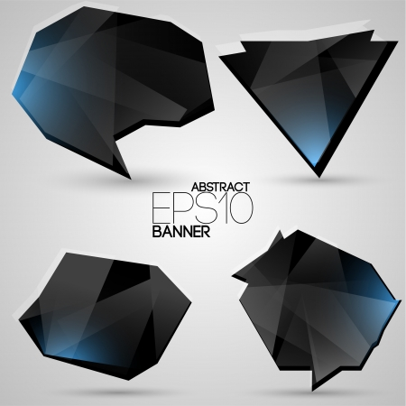 Vector set of futuristic banners Vector