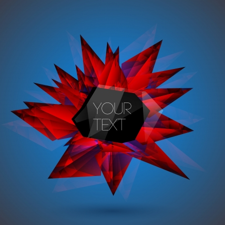 Vector red crystal background. Stock Vector - 19187950