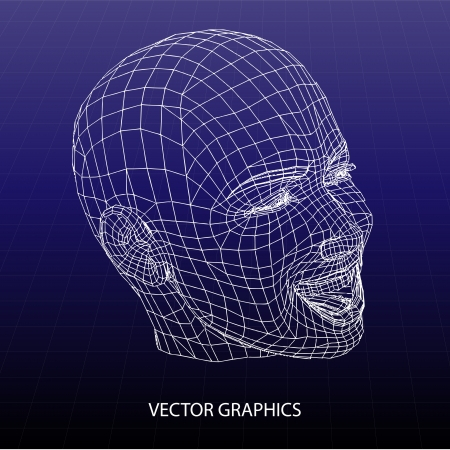 Vector model of face.  Stock Vector - 19187857
