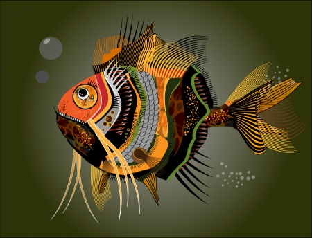 Abstract fish. Vector illustration Vector