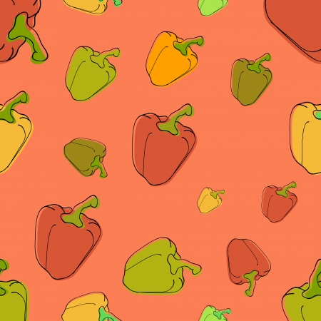 Vector background with peppers Stock Vector - 19187844