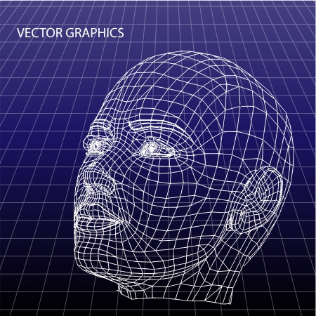Vector model of face. Vector