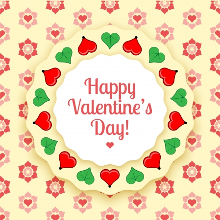 Vector greeting card for Valentines day Vector