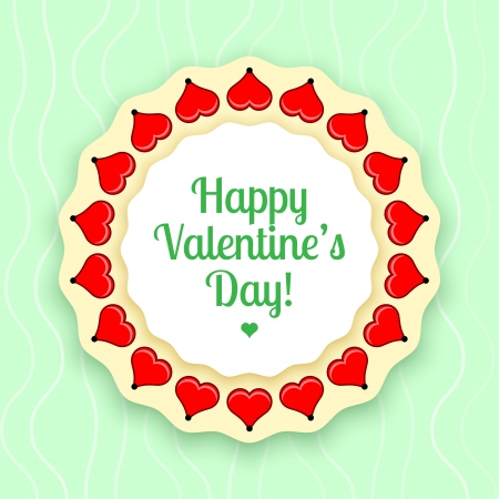 Vector greeting card for Valentine's day Vector