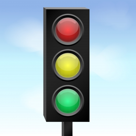 Vector illustration of traffic light. Stock Vector - 19187895