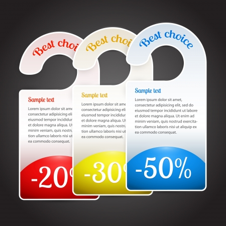 Vector best choice labels. Stock Vector - 19187876