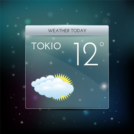 Vector weather widget. Stock Vector - 19187874