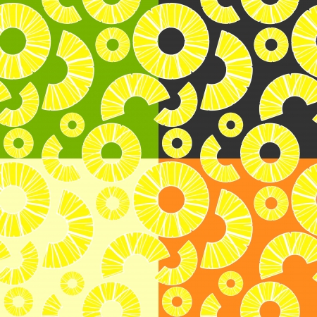 Vector background with pineapples. Vector