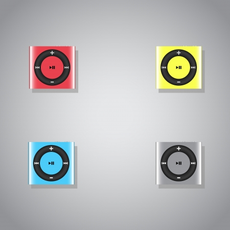 Set of  mp3 players Stock Vector - 19200667