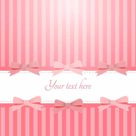pink background with bows Vector