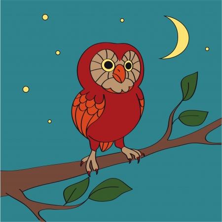 A cartoon night owl Vector